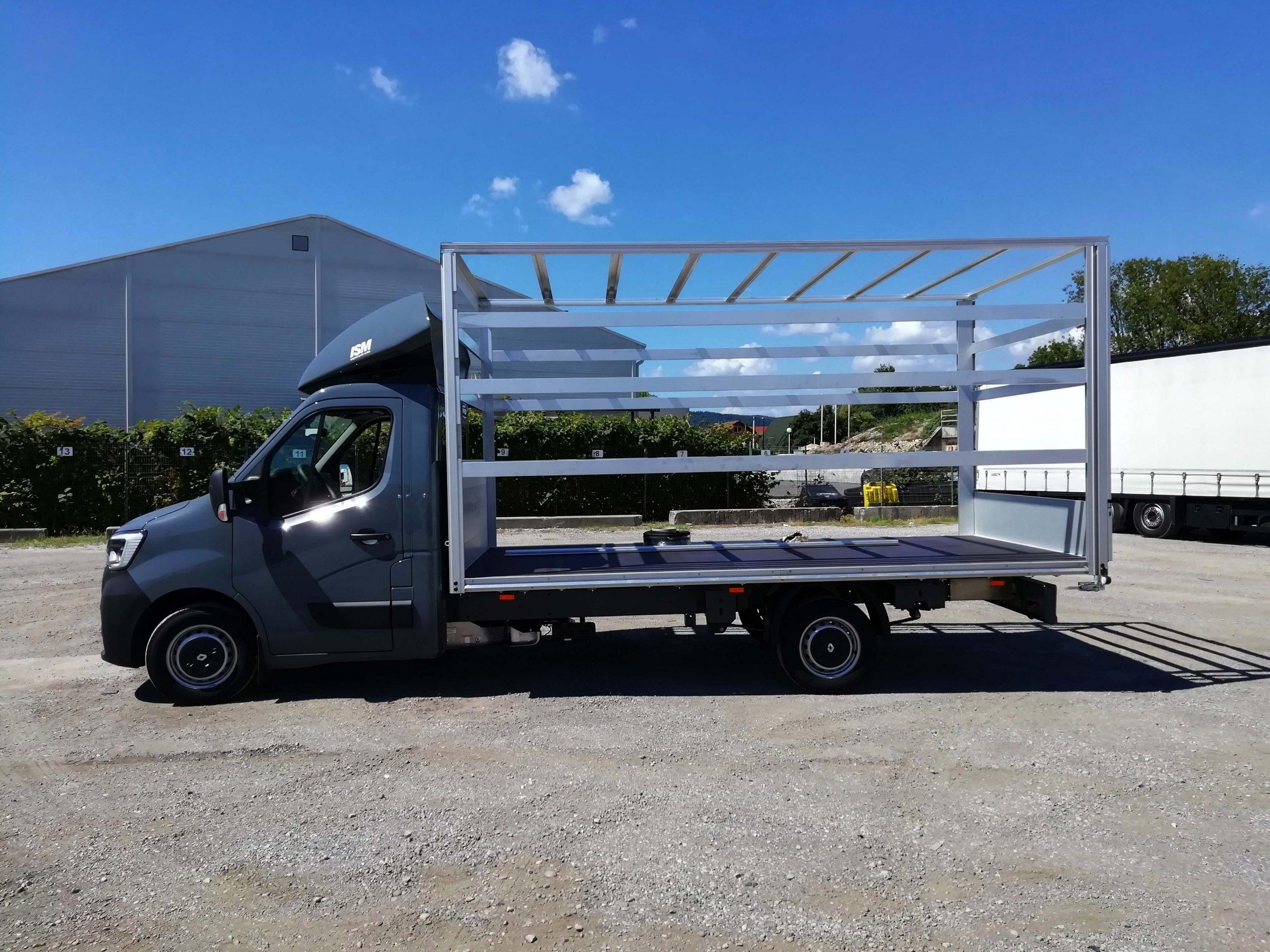 gospodarsko vozilo z aluminijasto nadgradnjo